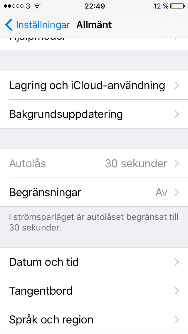 internetdelning funkar inte iphone 7